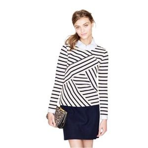J. Crew | Diagonal Striped Sailor Top